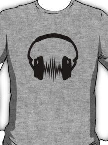Headphone, Music, Disco, Dance, Electro, Trance, Techno, Wave, Pulse,  T-Shirt