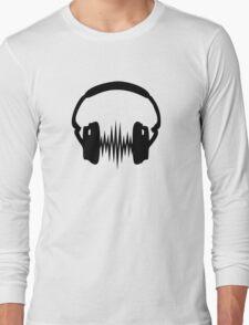 Headphone, Music, Disco, Dance, Electro, Trance, Techno, Wave, Pulse,  Long Sleeve T-Shirt