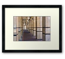 Columns Lines and Lights Framed Print