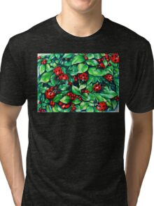Ladybugs in the Hedge Tri-blend T-Shirt