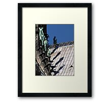 Shadow of the giants Framed Print