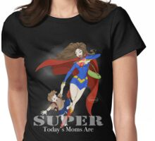 Super Mom - Brunette (darker tees) Womens Fitted T-Shirt