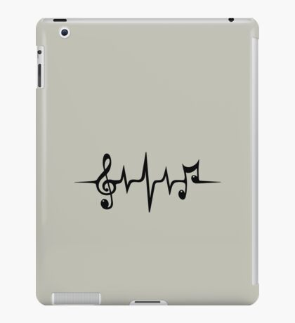 Music Pulse, Notes, Clef, Frequency, Wave, Sound, Dance iPad Case/Skin