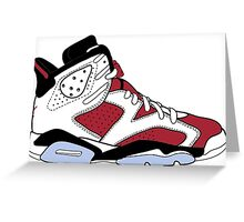 "Air Jordan VI (6) ""Carmine"" Greeting Card"