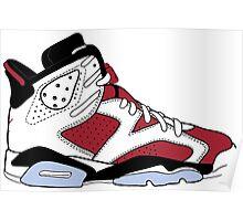 "Air Jordan VI (6) ""Carmine"" Poster"