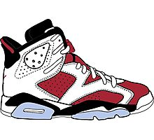"Air Jordan VII (6) ""Carmine"" Photographic Print"