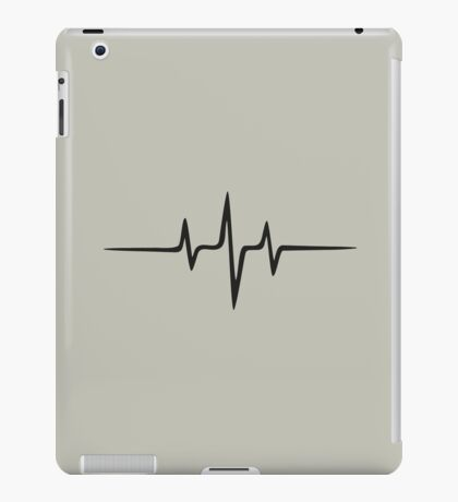 Music Pulse, Frequency, Wave, Sound, Abstract, Techno, Rave iPad Case/Skin