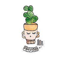 Patrick The Poker Playing Cactus | Emma Watts Photographic Print