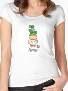 Patrick The Poker Playing Cactus   Emma Watts Women's Fitted Scoop T-Shirt