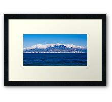 Cape Town and Table Mountain From Robben Island Framed Print