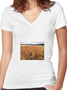 The Barleyfield in Nowhere Women's Fitted V-Neck T-Shirt