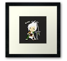 Riven The Exiled (Chibi Version) Framed Print