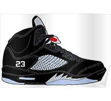 "Air Jordan V (5) ""Black Metallic"" Poster"