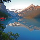Sunrise Lake Louise  by Judy Grant