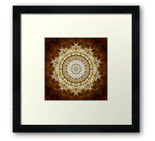 Golden Clouds Kaleidoscope 164 Framed Print