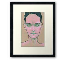 girl head Framed Print