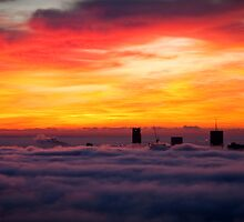 Sunrise over Brisbane by Andrew Leitch