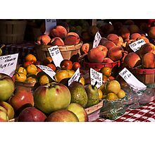 Market produce Photographic Print