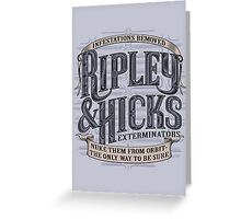 Ripley & Hicks Exterminators Greeting Card