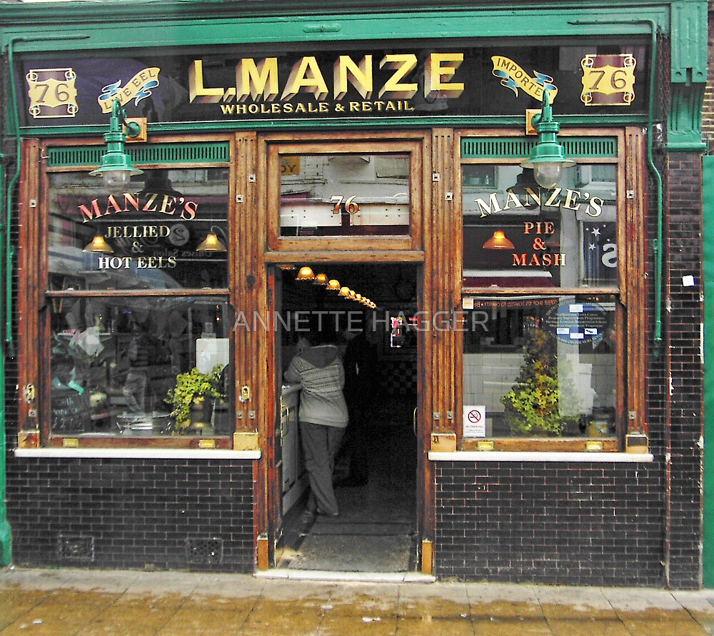 Manzes Pie and Mash Shop by ANNETTE HAGGER