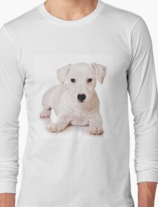 white Jack Russell Terrier puppy Long Sleeve T-Shirt