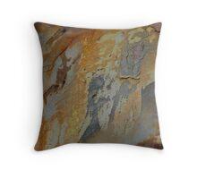gray green abstract Throw Pillow