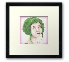 Green Haired Ramona Framed Print