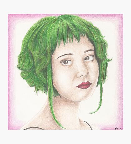 Green Haired Ramona Photographic Print