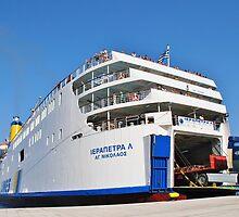 Ierapetra L ferry, Halki island by David Fowler