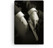 Guns' hands Canvas Print