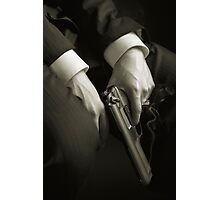 Guns' hands Photographic Print