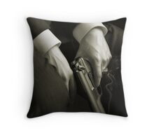 Guns' hands Throw Pillow