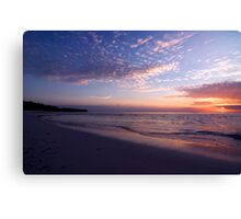 Sunset in Pastels - Cocos (Keeling) Islands Canvas Print