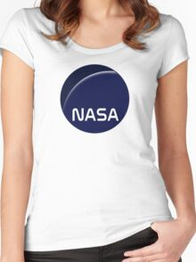Interstellar movie NASA logo Women's Fitted Scoop T-Shirt