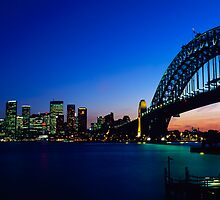 Sydney Harbour Sunset by Andrew McNeil