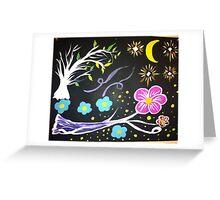 Mystical Night Sky Greeting Card