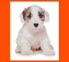White Terrier puppy Kids Tee
