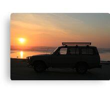 Cruiser on the Beach Canvas Print