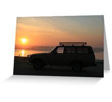Cruiser on the Beach Greeting Card