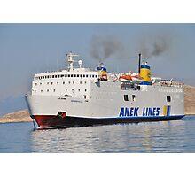 Ferry arrival, Halki Photographic Print