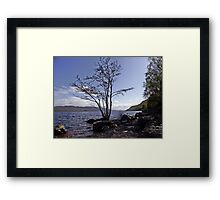 From the Shores of Loch Ness, Scotland Framed Print