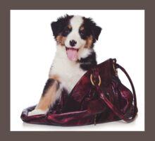 Bern Shepherd puppy and a bag One Piece - Short Sleeve