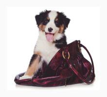 Bern Shepherd puppy and a bag Baby Tee