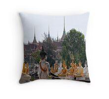 Buddha Garden Throw Pillow