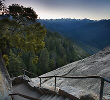 Moro Rock Steep Stairway by Adam Bykowski