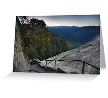 Moro Rock Steep Stairway Greeting Card