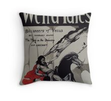 Weird Tales ( The Buccaneers Of Venus ) Throw Pillow