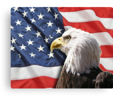 9/11 Tribute: Proud to be an American Canvas Print
