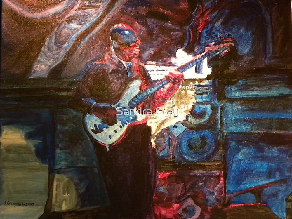 Blues Guitarist by Sandra Gray