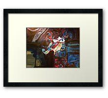 Blues Guitarist Framed Print